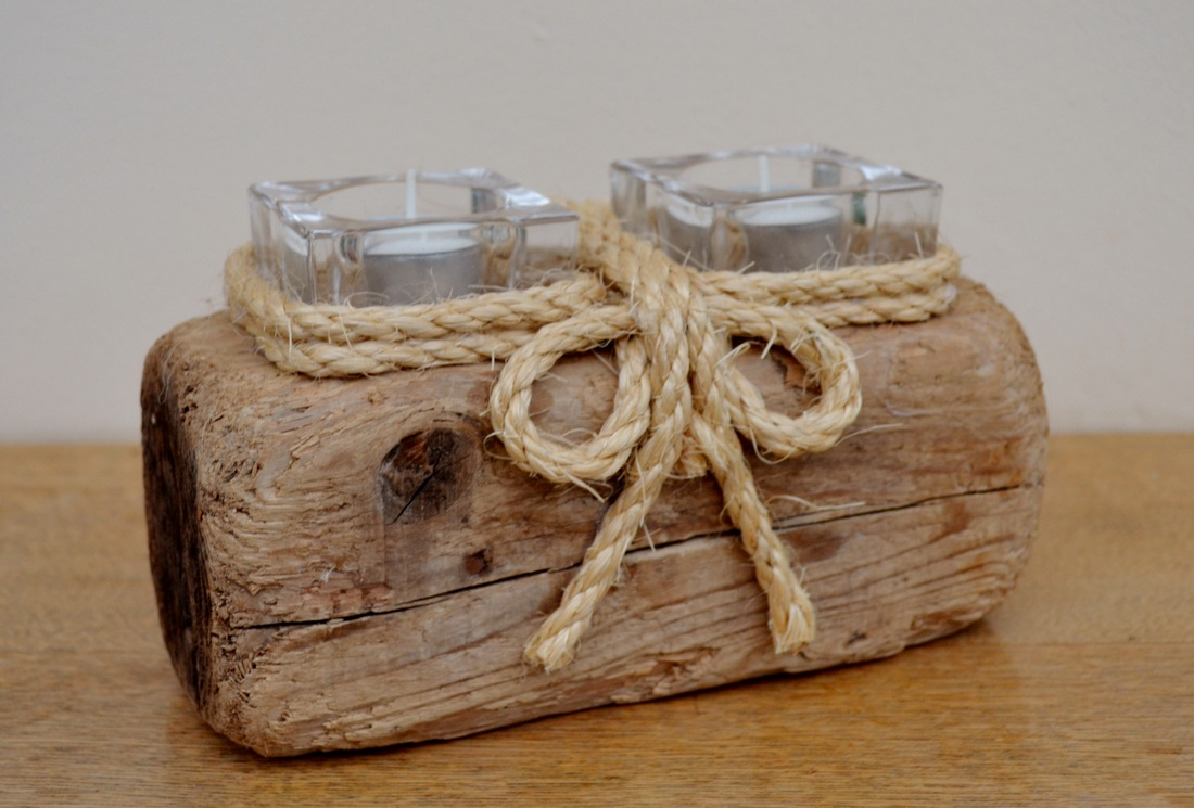 Sea Driftwood Candle Holders Created In Yorkshire Uk From Local Materials Sea Driftwood Designs